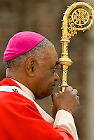 Archbishop of Atlanta, Wilton Daniel Gregory during a mass at the Belmont Abbey Basilica in Belmont, NC.