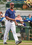 12 March 2014: Houston Astros Manager Bo Porter walks to the dugout during a Spring Training game against the Washington Nationals at Osceola County Stadium in Kissimmee, Florida. The Astros rallied in the bottom of the 9th to edge out the Nationals 10-9 in Grapefruit League play. Mandatory Credit: Ed Wolfstein Photo *** RAW (NEF) Image File Available ***