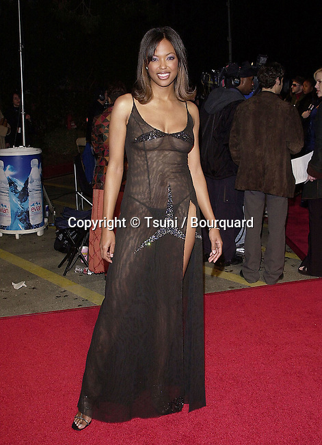 The 32th NAACP Image Awards - National Ass. for the Advancement of Colored People - was held at the Universal Amphitheatre in Los Angeles  23/1/2001<br /> <br /> see thru<br /> naked dress227_TylerAisha06.JPG