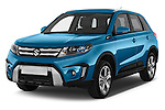 2015 Suzuki Vitara Lux Extra 5 Door SUV angular front stock photos of front three quarter view