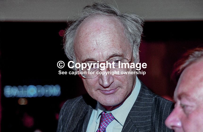 Sir George Young, MP, UK,  Conservative Party, annual conference, Blackpool, 199910127.<br />