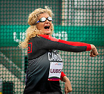 Lima, Peru -  24/August/2019 -  Ljilana Ljubisic competes in the women's discus throw F11 at the Parapan Am Games in Lima, Peru. Photo: Dave Holland/Canadian Paralympic Committee.