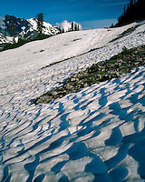 Evening light on a snow field in Austin Pass; Mt. Baker/Snoqualmie National Forest, WA