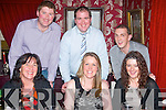 NIGHT OUT: Staff from accountancy firm, FDC group, Denny St, Tralee enjoying a well earned night out in Cassidy's restaurant, Abbey Sq, Tralee last Friday night, seated l-r: Patricia McEllistrim, Aine Egan and Lorraine Mulvihill. Back l-r: James Leahy, Tim Hurley with Patrick Dore.