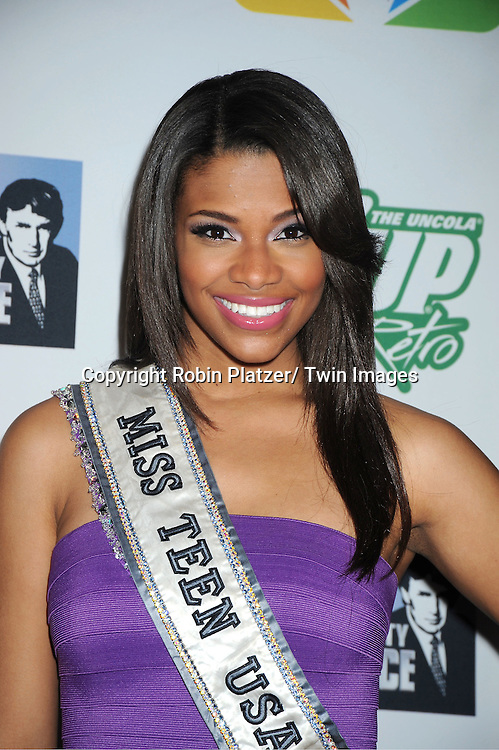 "Miss Teen USA Kamie Crawford posing for photographers at ""The Celebrity Apprentice""..Season Four Finale Party on May 22, 2011 at The Trump Soho Hotel in New York City."