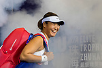 Xinyun Han of China walks to the court prior to the doubles Round Robin match of the WTA Elite Trophy Zhuhai 2017 against Chen Liang and Zhaoxuan Yang of China at Hengqin Tennis Center on November  04, 2017 in Zhuhai, China. Photo by Yu Chun Christopher Wong / Power Sport Images