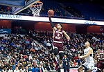 UNCASSVILLE, CT-031818JS11- Sacred Heart's Isiah Gaiter (2) slams in two of his 10 points Notre Dame-Fairfield's during their Division I championship game against Notre Dame-Fairfield's Sunday at Mohegan Sun Arena. <br /> Jim Shannon Republican-American