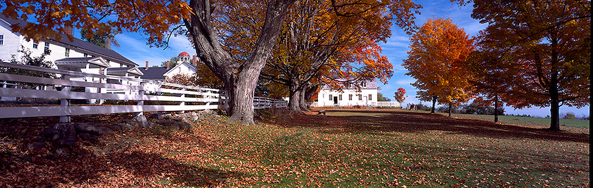 An autumn day at the Canterbury Shaker Village, Canterbury, New Hampshire. Photograph by Peter E, Randall