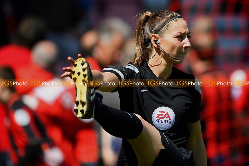Assistant Referee Sian Massey-Ellis warms up during AFC Bournemouth vs Burnley, Premier League Football at the Vitality Stadium on 13th May 2017