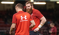 Wales' Jake Ball during the pre match warm up<br /> <br /> Photographer Ian Cook/CameraSport<br /> <br /> Under Armour Series Autumn Internationals - Wales v Tonga - Saturday 17th November 2018 - Principality Stadium - Cardiff<br /> <br /> World Copyright © 2018 CameraSport. All rights reserved. 43 Linden Ave. Countesthorpe. Leicester. England. LE8 5PG - Tel: +44 (0) 116 277 4147 - admin@camerasport.com - www.camerasport.com