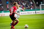 01.05.2019, RheinEnergie Stadion , Köln, GER, DFB Pokalfinale der Frauen, VfL Wolfsburg vs SC Freiburg, DFB REGULATIONS PROHIBIT ANY USE OF PHOTOGRAPHS AS IMAGE SEQUENCES AND/OR QUASI-VIDEO<br /> <br /> im Bild | picture shows:<br /> Zsanett Jakabfi (VfL Wolfsburg #3) gegen Greta Stegemann (SC Freiburg Frauen #20), <br /> <br /> Foto © nordphoto / Rauch
