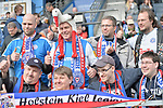 10.03.2018, Vonovia Ruhrstadion, Bochum, GER, 2.FBL, VfL Bochum vs Holstein Kiel,, im Bild Fankurve / Fans / Fanblock / von Holstein Kiel<br /> <br /> <br /> Foto &copy; nordphoto/Mauelshagen