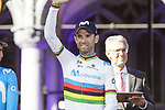 World Champion Alejandro Valverde (ESP) Movistar Team at the team presentation held on the Grand-Place before the 2019 Tour de France starting in Brussels, Belgium. 4th July 2019<br /> Picture: Colin Flockton | Cyclefile<br /> All photos usage must carry mandatory copyright credit (© Cyclefile | Colin Flockton)