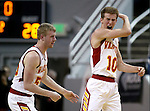 Whittell's Quinn Kixmiller, left, and Palmer Chaplin celebrate a shot at the buzzer at halftime during the NIAA Division IV state basketball championship game against Word of Life in Reno, Nev. on Saturday, Feb. 27, 2016. Whittell won 53-48. Cathleen Allison/Las Vegas Review-Journal