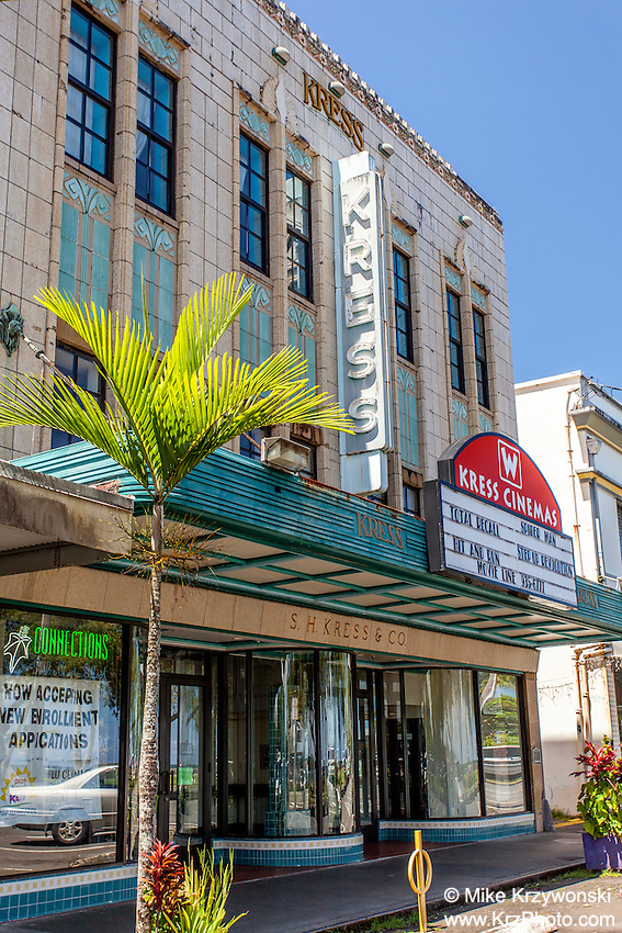 Kress Cinema Movie Theatre, Downtown Hilo,Big Island, Hawaii