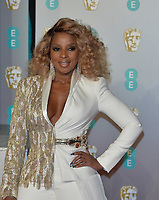 LONDON, UK - FEBRUARY 10: Mary J. Blige at the 72nd British Academy Film Awards held at Albert Hall on February 10, 2019 in London, United Kingdom. <br /> CAP/MPIIS<br /> ©MPIIS/Capital Pictures