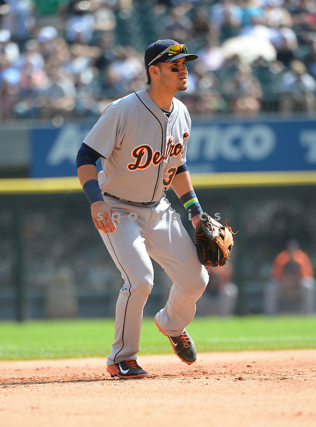 Detroit Tigers Eugenio Suarez (30) during a game against the Chicago White Sox on August 31, 2014 at US Cellular Field in Chicago, IL. The Tigers beat the White Sox 8-4.