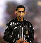11 July 2004: Referee Jair Marrufo. The Chicago Fire tied the New England Revolution 1-1 at Soldier Field in Chicago, IL during a regular season Major League Soccer game..