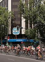 MADRI, ESPANHA, 10 JUNHO 2012 - BICICLE NUDE PARADE - Ciclistas protestam contra o transito a partir da Praca Cibeles ate o Palacio Real em Madri capital da Espanha, ontem sabado, 09. (FOTO MARTHINS / BRAZIL PHOTO PRESS).