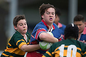 Counties Manukau Junior Under 12 Open Final rugby game between Ardmore Marist White and Pukekohe, played at Patumahoe on Saturday September 3rd 2016. Ardmore Marist won the game 31 - 12.<br /> Photo by Richard Spranger