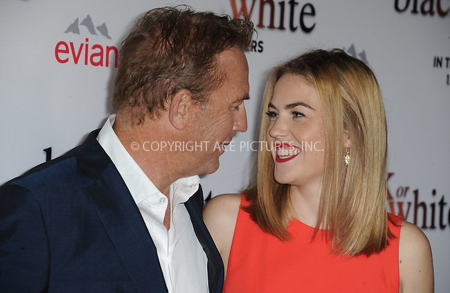 WWW.ACEPIXS.COM<br /> <br /> January 20 2015, LA<br /> <br /> (L-R) Kevin Costner and Lily Costner arriving at the premiere of Relativity Media's 'Black or White' at Regal Cinemas L.A. Live on January 20, 2015 in Los Angeles, California.<br /> <br /> By Line: Peter West/ACE Pictures<br /> <br /> <br /> ACE Pictures, Inc.<br /> tel: 646 769 0430<br /> Email: info@acepixs.com<br /> www.acepixs.com