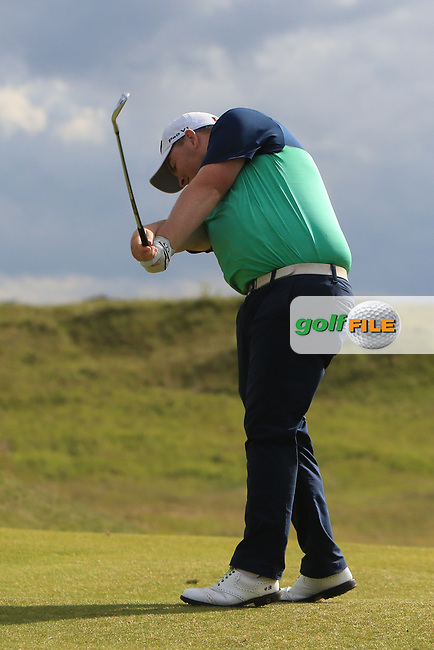Caolan Rafferty (Dundalk) on the 15th fairway during Round 1 of the The Amateur Championship 2019 at The Island Golf Club, Co. Dublin on Monday 17th June 2019.<br /> Picture:  Thos Caffrey / Golffile<br /> <br /> All photo usage must carry mandatory copyright credit (© Golffile | Thos Caffrey)
