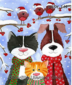 Kate, CHRISTMAS ANIMALS, WEIHNACHTEN TIERE, NAVIDAD ANIMALES, paintings+++++Christmas page 27 1,GBKM142,#xa# ,cat,cats