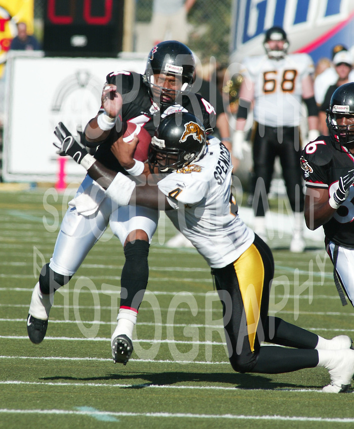 Marcus Spencer Hamilton Tiger Cats 2003. Photo F. Scott Grant