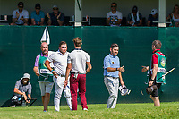 Zander Lombard (RSA) Thomas Detry (BEL) and Louis Oosthuizen (RSA) during the 3rd round at the Nedbank Golf Challenge hosted by Gary Player,  Gary Player country Club, Sun City, Rustenburg, South Africa. 16/11/2019 <br /> Picture: Golffile | Tyrone Winfield<br /> <br /> <br /> All photo usage must carry mandatory copyright credit (© Golffile | Tyrone Winfield)