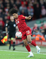 5th January 2020; Anfield, Liverpool, Merseyside, England; English FA Cup Football, Liverpool versus Everton; Yasser Larouci of Liverpool in action during the second half  - Strictly Editorial Use Only. No use with unauthorized audio, video, data, fixture lists, club/league logos or 'live' services. Online in-match use limited to 120 images, no video emulation. No use in betting, games or single club/league/player publications