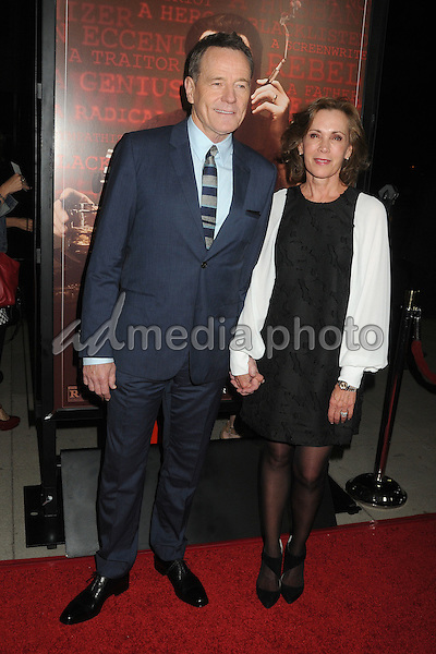 "27 October 2015 - Beverly Hills, California - Bryan Cranston, Robin Dearden. ""Trumbo"" Los Angeles Premiere held at the AMPAS Samuel Goldwyn Theater. Photo Credit: Byron Purvis/AdMedia"
