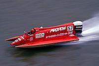 Ben Robertson (#57) USFORA Formula One (F1) Tunnel Boats, Cincinnati, Ohio 1989