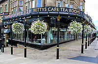 """Harrogate is a spa town in North Yorkshire, historically in the West Riding of Yorkshire. The town is a major tourist destination. <br /> For three consecutive years (2013–2015), polls voted the town as """"the happiest place to live"""" in Britain. Harrogate, UK on August 10th 2020<br /> <br /> Photo by Keith Mayhew"""