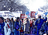 """The """"Campaign to the Summit"""", a march on Washington, D.C. supporting freedom for Jews living in the Soviet Union, on Sunday, December 6, 1987.  200,000 people marched to focus attention on the repression of Soviet Jewry, was scheduled a day before United States President Ronald Reagan and Soviet President Mikhail Gorbachev began a 2 day summit in Washington where they signed the Intermediate Range Nuclear Forces (INF) Treaty.<br /> Credit: Ron Sachs / CNP"""