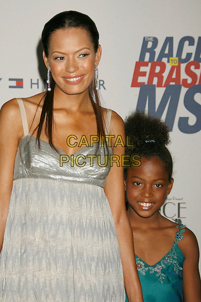 "KEISHA WHITAKER & daughter.14th Annual Race to Erase MS Themed ""Dance to Erase MS"" held at the Century Plaza Hotel, Century City, California, USA, 13 April 2007..half length grey silver dress.CAP/ADM/RE.©Russ Elliot/AdMedia/Capital Pictures."