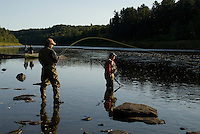 Canada New Brunswick salmon fishing