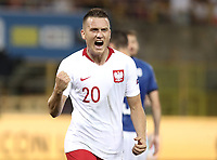 Football: Uefa Nations League match Italy vs Poland, Renato Dall'Ara stadium, Bologna, Italy, September 7, 2018. <br /> Poland's Piotr Zielinski celebrates after scoring during the Uefa Nations League match between Italy and Poland at the Renato Dall'Ara stadium, Bologna, Italy, September 7, 2018. <br /> <br /> UPDATE IMAGES PRESS/Isabella Bonotto