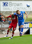 St Johnstone v Aberdeen...21.08.10  .Alan Maybury and Josh Magennis.Picture by Graeme Hart..Copyright Perthshire Picture Agency.Tel: 01738 623350  Mobile: 07990 594431