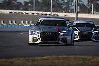 IMSA Continental Tire SportsCar Challenge<br /> December Test<br /> Daytona International Speedway<br /> Daytona Beach, FL USA<br /> Wednesday, 06 December, 2017<br /> 54, Audi, Audi RS3 LMS TCR, TCR, Michael Johnson, Stephen Simpson<br /> World Copyright: Brian Cleary<br /> LAT Images