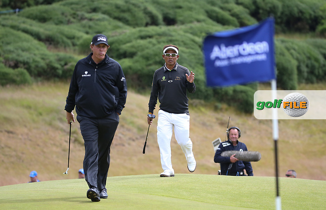 Phil Mickelson (USA) during Round One of the 2016 Aberdeen Asset Management Scottish Open, played at Castle Stuart Golf Club, Inverness, Scotland. 07/07/2016. Picture: David Lloyd | Golffile.<br /> <br /> All photos usage must carry mandatory copyright credit (&copy; Golffile | David Lloyd)