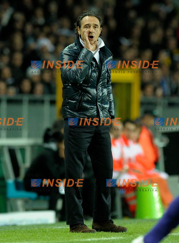 Cesare Prandelli (Fiorentina)<br /> Torino 17/10/2009 Stadio Olimpico<br /> Juventus Fiorentina - Anticipo del Campionato di calcio Serie A Tim 2009-10.<br /> Foto Giorgio Perottino / Insidefoto