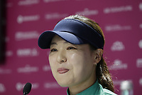 Defending Champion In Gee Chun (KOR) opening press conference during Wednesday's Pro-Am Day of The Evian Championship 2017, the final Major of the ladies season, held at Evian Resort Golf Club, Evian-les-Bains, France. 13th September 2017.<br /> Picture: Eoin Clarke | Golffile<br /> <br /> <br /> All photos usage must carry mandatory copyright credit (&copy; Golffile | Eoin Clarke)