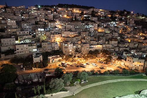 Silwan, Jerusalem, Octobre 2011. Vue nocturne