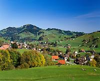 Schweiz, Kanton Appenzell Ausserrhoden, Appenzellerland, Urnaesch: Im Dorfzentrum befindet sich das Appenzeller Brauchtumsmuseum | Switzerland, Canton Appenzell Ausserrhoden, Urnaesch: with Appenzell Museum of Tradition
