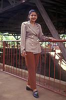 Young Nicaraguan woman working as a tour guide in Managua, Nicaragua