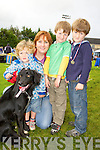 Conor Nolan, Denise Brassil, Jack and Charlie Nolan Tralee at the Tralee and District 40th Anniversary All Breed Championship in Castleisland on Saturday..