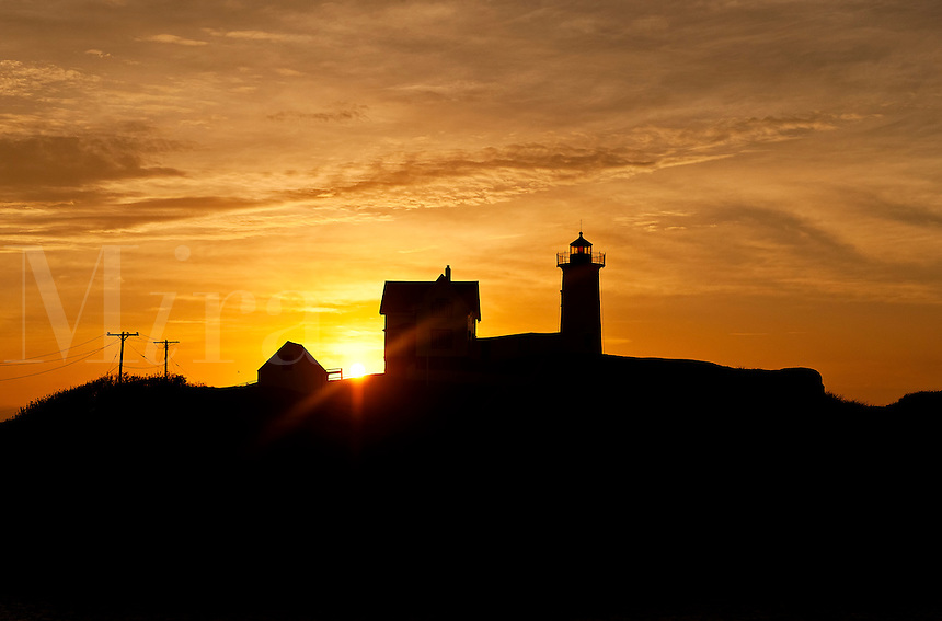Nubble Lighthouse, Cape Neddick, York, Maine, ME, USA