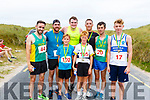 After crossing the finish line at the Banna 5 and 10k race on Sunday morning. Front l-r, Matthew O&rsquo;Sullivan and Eoin O&rsquo;Flaherty.<br /> Back l-r, Tim Long, Chris Treanor, Andrew Purcell, James Daly, Martin Leen and Kieran Lyons.