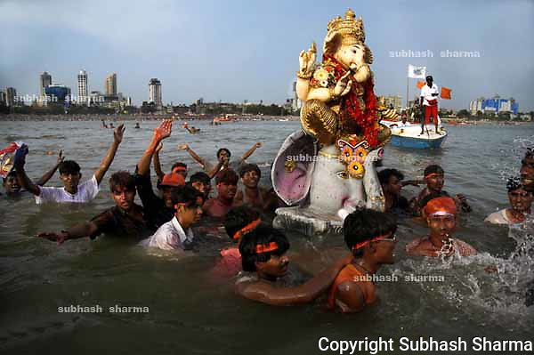Ganesha festival is the most popular festivalof Mumbai,India