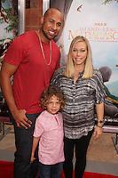 Hank Baskett, Kendra Wilkinson, kids<br /> at the &quot;Island Of Lemurs: Madagascar&quot; World Premiere, California Science Center, Los Angeles, CA 03-29-14<br /> David Edwards/DailyCeleb.Com 818-249-4998